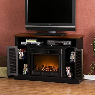 SEI Antebellum Media Console with Electric Fireplace