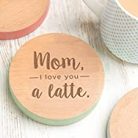 Mom Coaster for Coffee Mug - Cute Gifts for Mom from Daughter Son - Engraved Mothers Day Present ideas under 10 dollars