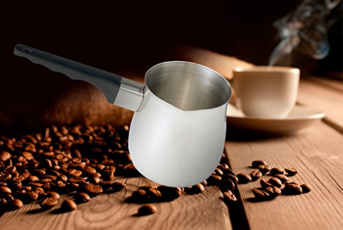 HIC Turkish Coffee Warmer and Butter Melting Pot, Stainless Steel, 24-Ounce Capacity, ¾-Quart by HIC Harold Import Co. (Image #1)