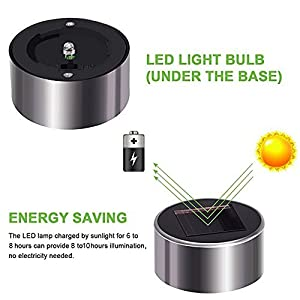Solar Lights Outdoor 12 Pack Solar Pathway Lights Solar Garden Lights, Landscape Lighting for Lawn, Patio, Walkway, Driveway Warm White (Silver)