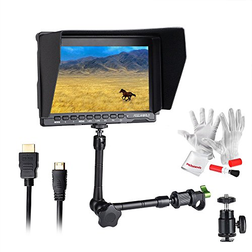 Feelworld FW759 7 inch Ultra HD 1280x800 IPS Screen Camera Field Monitor for BMPCC with 11