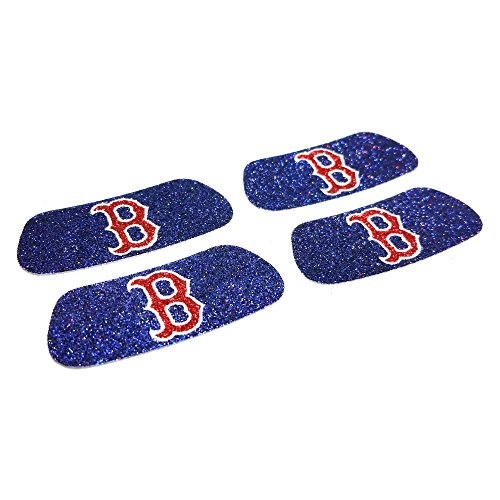 EyeBlack Boston Red Sox MLB Glitter Strips, Perfect for Game Day and Tailgate (4 Pairs/8 Strips)