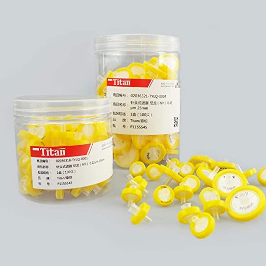 Tansoole 0.22/μm Seringue Filtre non St/érile en Nylon 13mm Diam/ètre Lot de 100