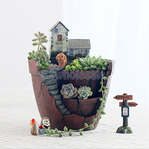 Shalleen Garden Flower Herb Planter Succulent Pot Sky Garden Trough Box Plant (Diy Lalaloopsy Costume)