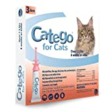 Catego Fast-Acting Flea and Tick Treatment for Cats Kittens (Over 1.5 lbs) - Kills Fleas Within 6 Hours - Prevents Flea Re-Infestations