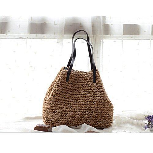 Bags Woven Grass Durable Hobos Bucket Casual Handbags Linen Beach Straw Green Women Weave Summer Tote Kimiyar Rattan pEq6z06