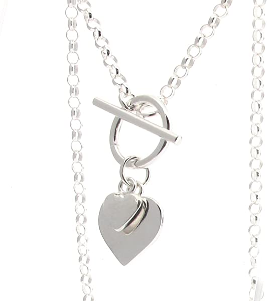 b5d5416bb Touch Jewellery Sterling Silver Fine Belcher Chain with T-bar and ...