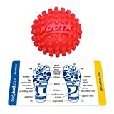 Foot Star 2 Inch Spiky Foot Massager & Roller Ball – Deep Tissue Massage ideal for Plantar Fasciitis Treatment, Muscle Pain Relief, Trigger Point Therapy & Myofascial Release by Body Back Company (Red)