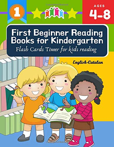 First Beginner Reading Books for Kindergarten Flash Cards Timer for kids reading English Catalan: Read 100 sight words…