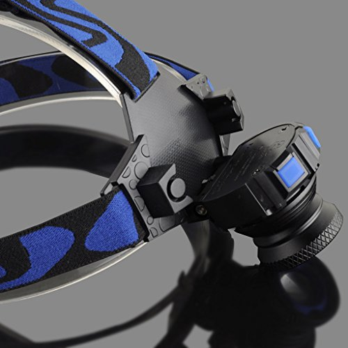 LIYUDL Brightest Zoomable Headlamp,XM-L Q5 5500 Lumen flashlight - 3 Modes Rechargeable Headlight Flashlights,Hard Hat Light, Bright Head Lights, Running or Camping headlamp by LIYUDL (Image #6)