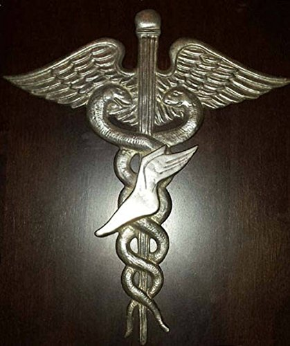 Podiatry Graduation Gift Caduceus podiatrist podiatric doctor DPM medical student Wall Emblem Solid Pewter 12''