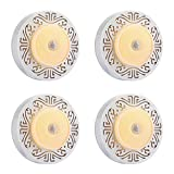 INLIFE Motion Sensor Light Wireless Cabinet Lights, USB Rechargeable DIY Stick-on Anywhere LED Wardrobe Closet Light, Warm White