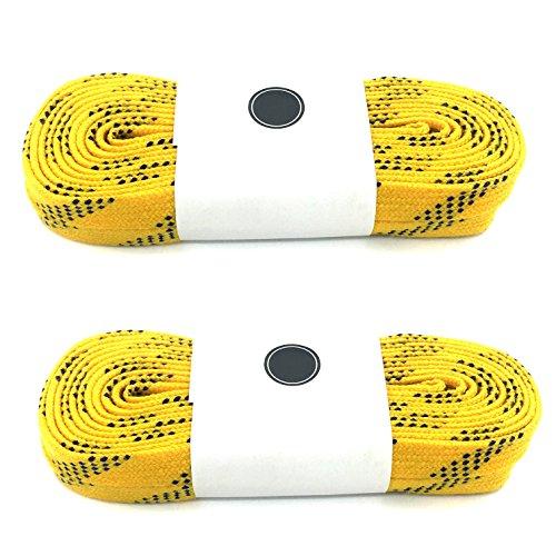 - Waxed Ice Skate Laces Hockey Lace Heavy Duty Lace (Yellow, 84