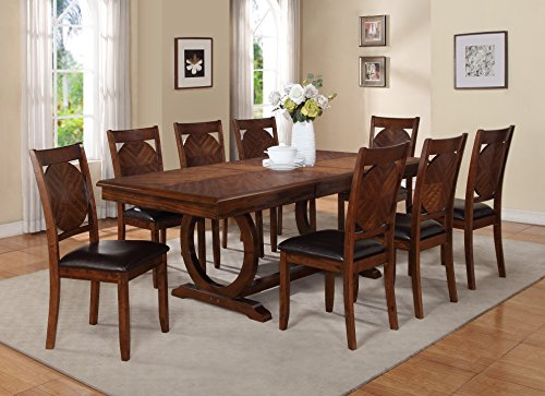 Game Dining Table Room Set (Milton Greens Stars 8878DB Vernon Dining Table, 84 by 42 by 30-Inch, Dark Brown)