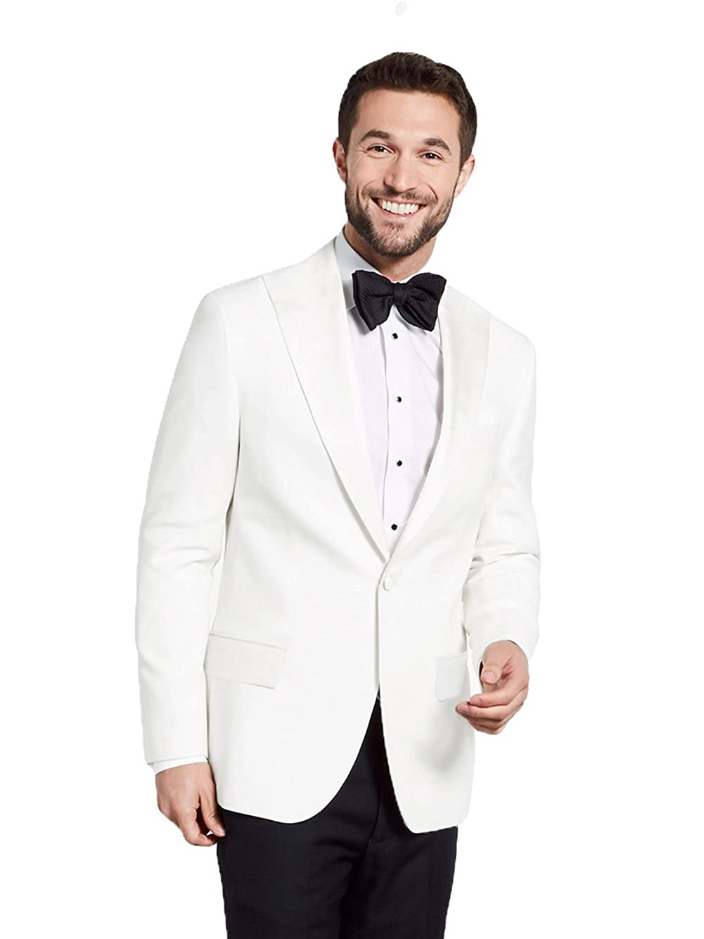First Nighter Men's White Lapel Single Button Dinner Jacket FCGI