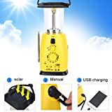 Vbestlife Solar Emergency Radio Hand Crank Solar Powered Camping Flashlight Multi-Functional Solar LED Flashlight Radio Hand Crank AM/FM NOAA Weather Radio Audio Box Charger Cell Phone Charger
