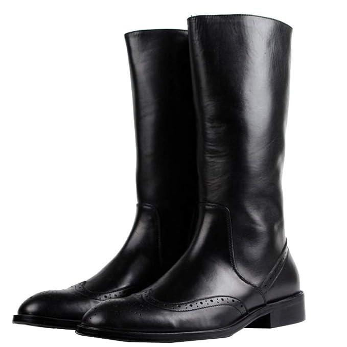 Botas De Montar De Goma Largas Zapato Martin De Hombre Negro