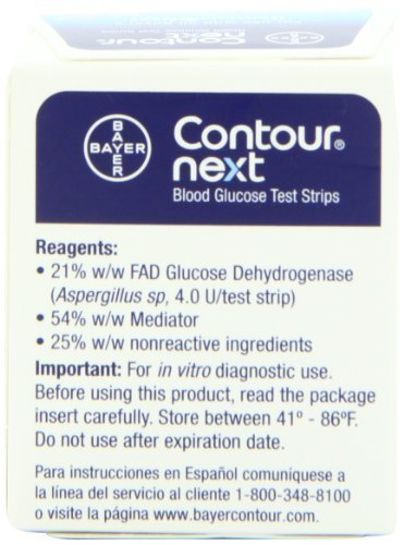Bayer Contour Next Blood Glucose Test Strips, 50ct.  4PK