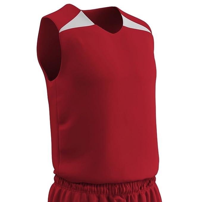 35c745b2b4c CHAMPRO DRI-Gear Pro-Plus Reversible Basketball Jersey - Youth Scarlet,  White Youth