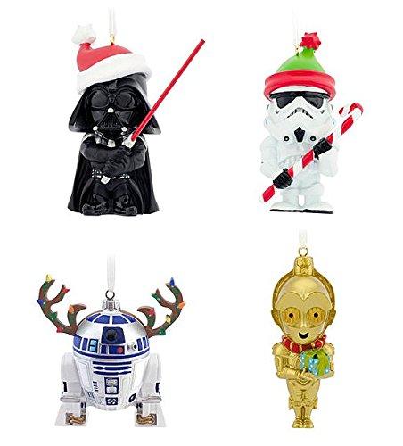 Amazon.com: Hallmark Star Wars Christmas Tree Ornaments: Home ...