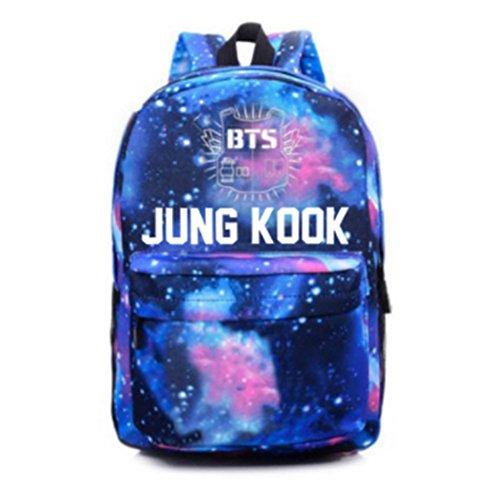 Kook Boys Sky Unisex Bts Kpop Sports Starry Backpack Jung Canvas Bags Schoolbag Skisneostype Bangtan Satchel 48Y6nxpp