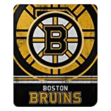 "Officially Licensed NHL Boston Bruins ""Fade Away"" Fleece Throw Blanket, 50"" x 60"", Multi Color"