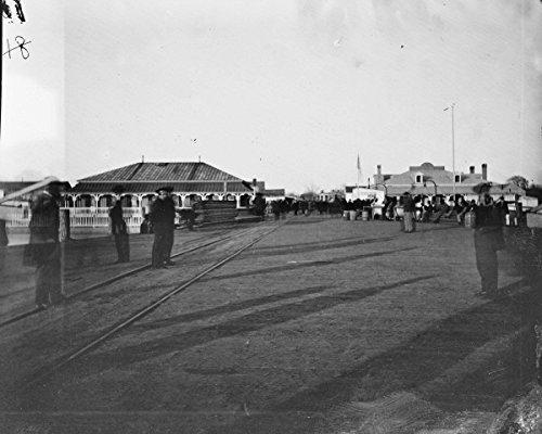 New 11x14 Civil War Photo: Wharf at Fortress Monroe, - Stores South Wharf