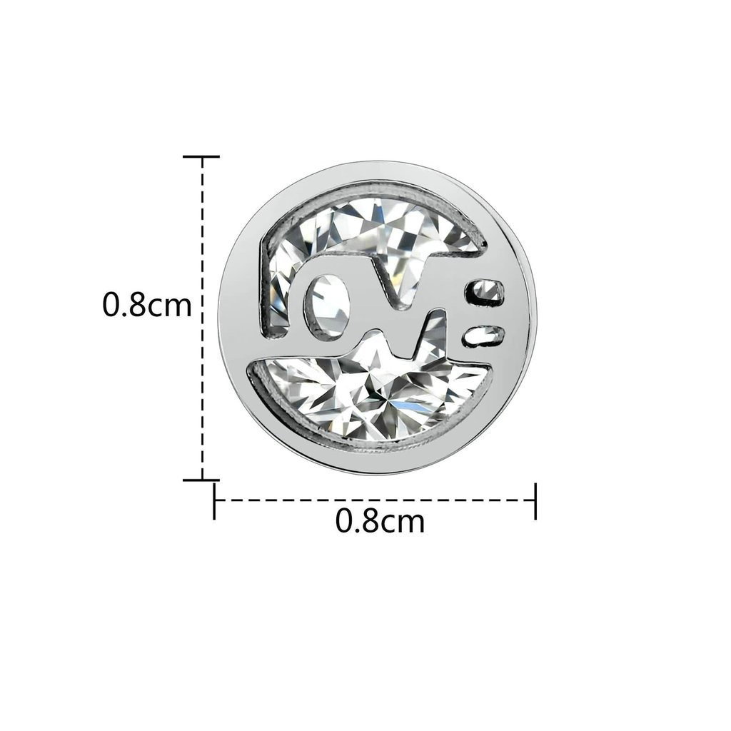 Crystal Zirconia Drill Aooaz Womens Stud Earrings Stainless Steel Earrings Round Creux Love