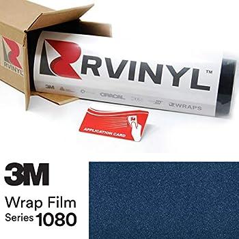 3M 1080 G217 Gloss DEEP Blue Metallic 5ft x 1ft W/Application Card Vinyl Vehicle Car Wrap Film Sheet Roll