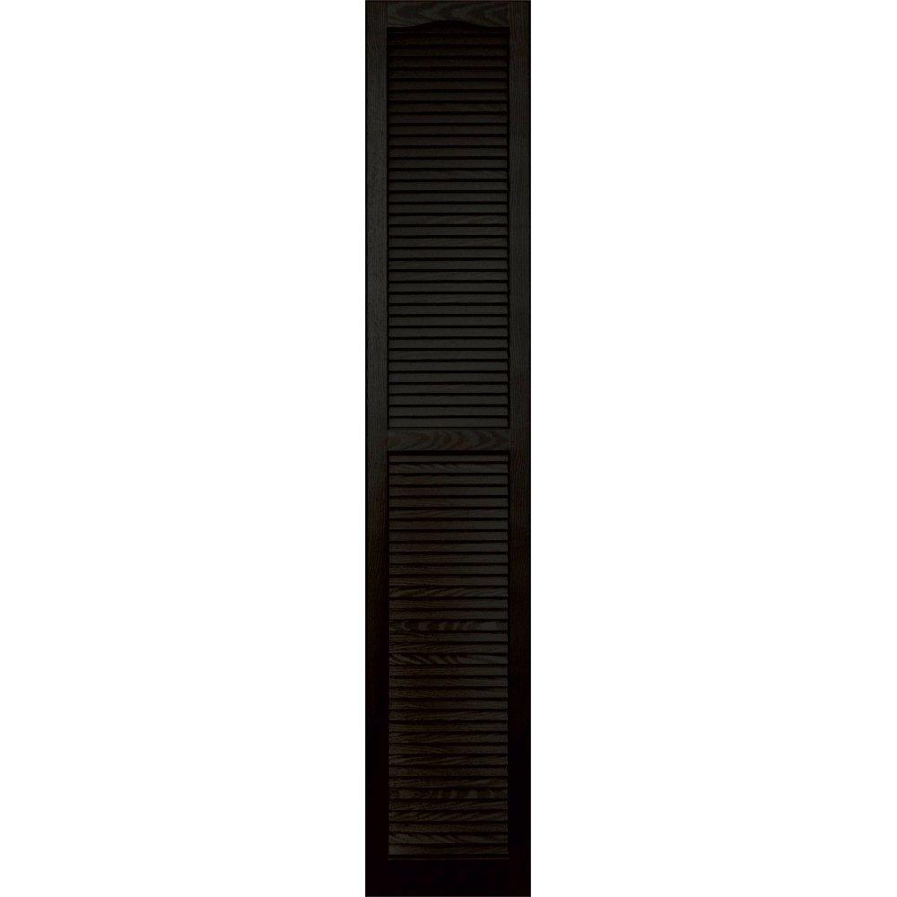 Vantage 0114080002 14X80 Louver Arch Shutter/Pair 002, Black