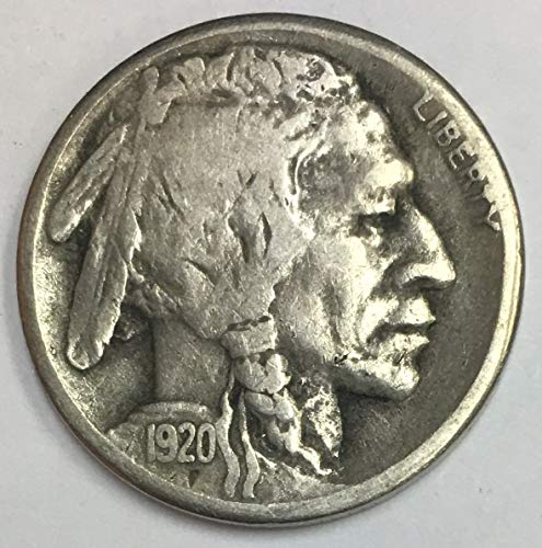 - 1920 S Indian Head or Buffalo Nickel Average Circulated 5c G-VG