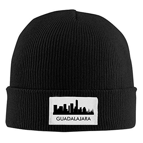 GYUQO Guadalajara City Skylines Silhouettes Wool \r\nBlack Vintage\r\n Unisex Beanie Hats
