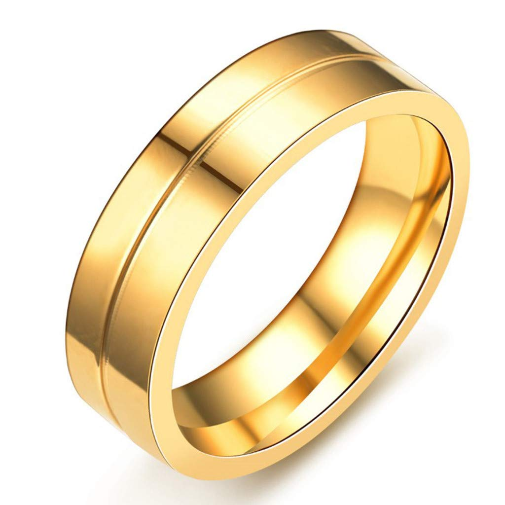 ❤❤Ratoop❤❤Stylish and Simple New Titanium Steel Couple Ring Jewelry by Ratoop-rings (Image #3)