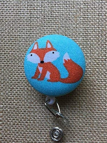 Fox Retractable Badge Reel, Nurse work ID Badge Holder