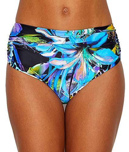 Bay Bikini Bottom - Fantasie Paradise Bay Deep Gather Bikini Bottom, L, Aquamarine Floral