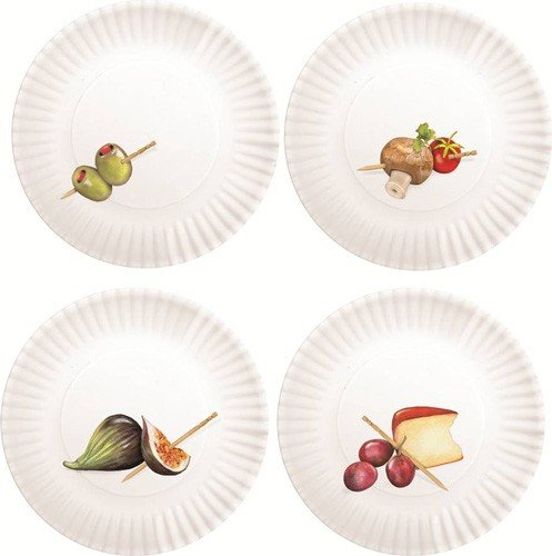 Mary Lake-Thompson Set of 4 Hors d'Oeuvres Plates MZ 1009 (Hors Doeuvre Set)