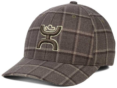 HOOey Pueblo Brown Plaid Flex Fit Cap - 1532BNPD - Large/X-Large ()