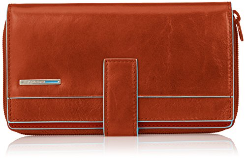 Piquadro Lady's Wallet In Leather, Orange/Orange, One Size by Piquadro