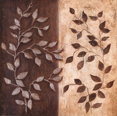 Russet Leaf Garland I by Janet Tava - 20x20 Inches - Art Print Poster
