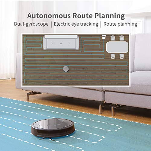 Roborock E25 Robot Vacuum Cleaner, Vacuum and Mop Robotic Vacuum Cleaner, 1800Pa Strong Suction, App Control, Route Planning for Pet Hair, Hard Floor, Carpet