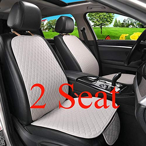 ZSQSC Car Seat Cover Protector Auto Flax Front Back Rear Backrest Seat Cushion Pad for Auto Automotive Interior Truck SUV or Van ZSQSC (Color : 2 Front Gray) by ZSQSeatCovers