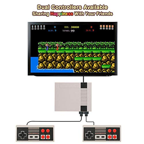 Hangyuan Mini Video Game Console Super NES Classic Games Built in 620 Games AV Out to TV for Family Recreation Dual Players 4-Button by Hangyuan (Image #3)