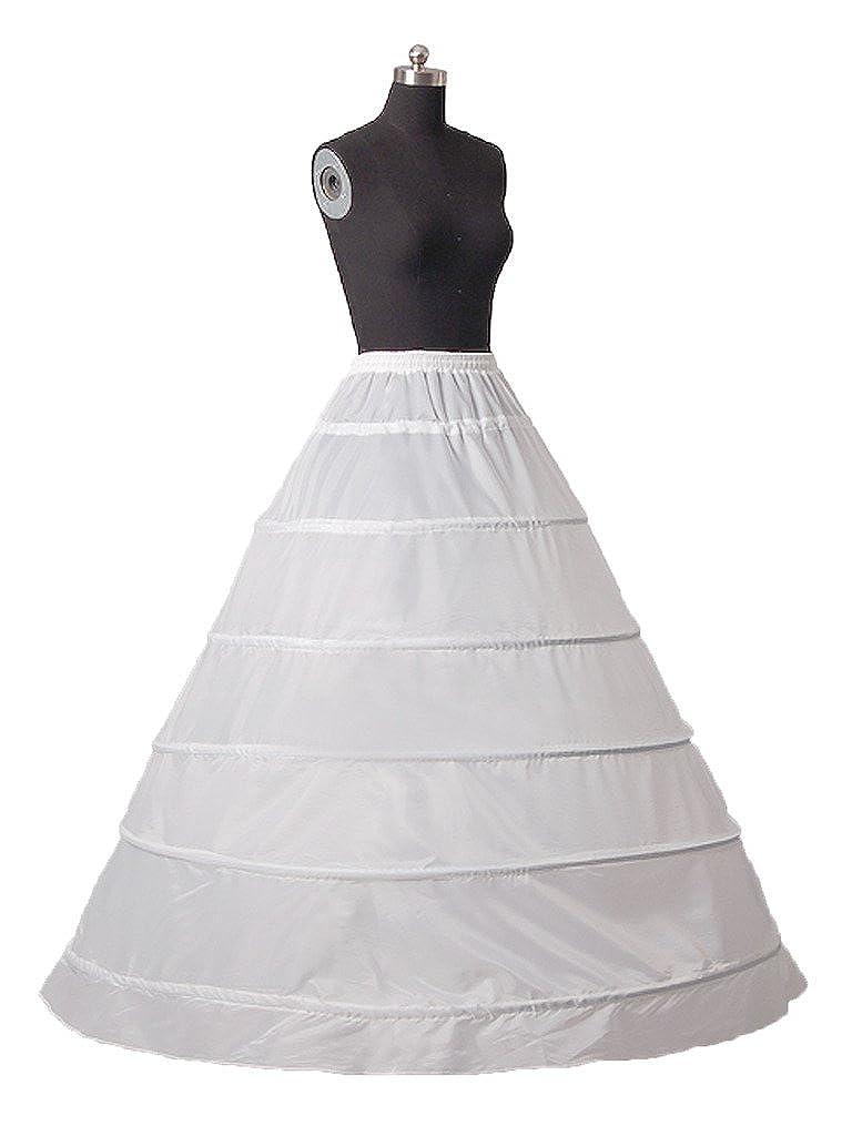 0512ac54354a8 Snowskite 6 Hoops Skirt Wedding Dress Bridal Petticoat/Underskirt/Crinoline/ Slip at Amazon Women's Clothing store:
