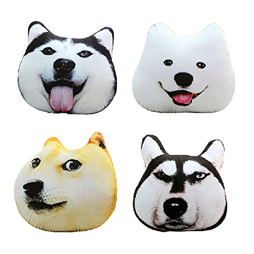 (Plush 3d Printed Samoyed Husky Doge Dog Throw Pillow Alaska Dog Cushion)
