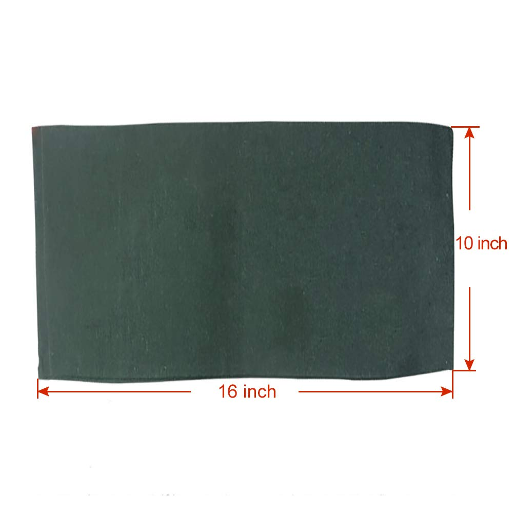 OriginA Empty Sandbag Flood Barrier Sand Bags for Flood Control, Eco-Friendly, 10x16in, 50 Pack, Green by OriginA (Image #4)