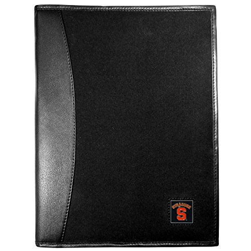 NCAA Syracuse Orange Leather and Canvas Padfolio, Black by Siskiyou