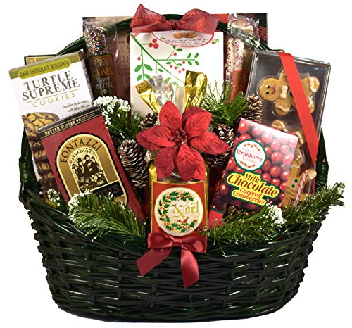 'Tis the Season, Christmas Gift Basket - Loaded With Traditional Holiday Chocolates, Cookies, Candies And More, Appropriate As Personal Or Professional Holiday Gifts