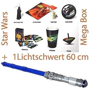 TE-Trend 7 Piezas Star Wars Mega Caja con Sable Láser 60 cm ...