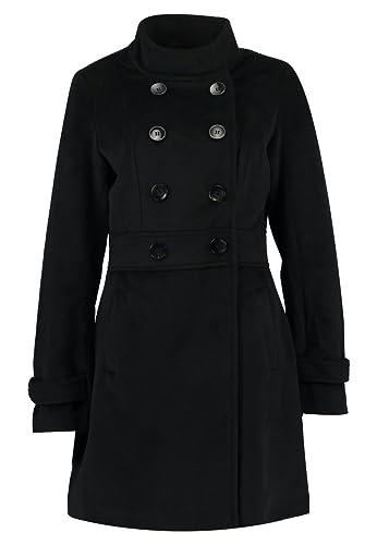 Anna Field Chaqueta de Mujer Elegante – Abrigo de Mujer en Negro o Beige – Abrigo de Entretiempo Corto con Cuello Alto – Chaqueta para Mujer de Invierno Corto