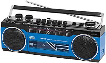 Trevi RR 501 BT Personal Negro, Azul - Radio (Personal, FM, MW, SO, Negro, Azul, Giratorio, SD, Mecánico)